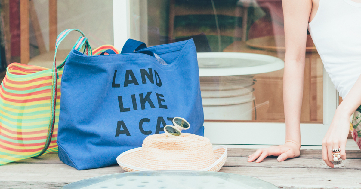 猫柄のおしゃれなファッショントートバッグ