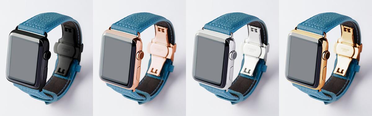 スカンディナビアンブルー|複数買いしたい、豊富なラインナップ。アクティブな腕元を洗練する、ワンタッチ着脱の「Apple Watchバンド」|EPONAS(エポナス)