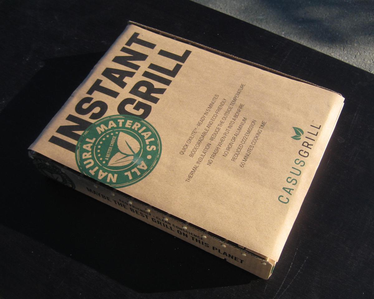 デンマーク生まれのエコな、100%天然素材の使い捨てバーベキューグリル|Craft Grill