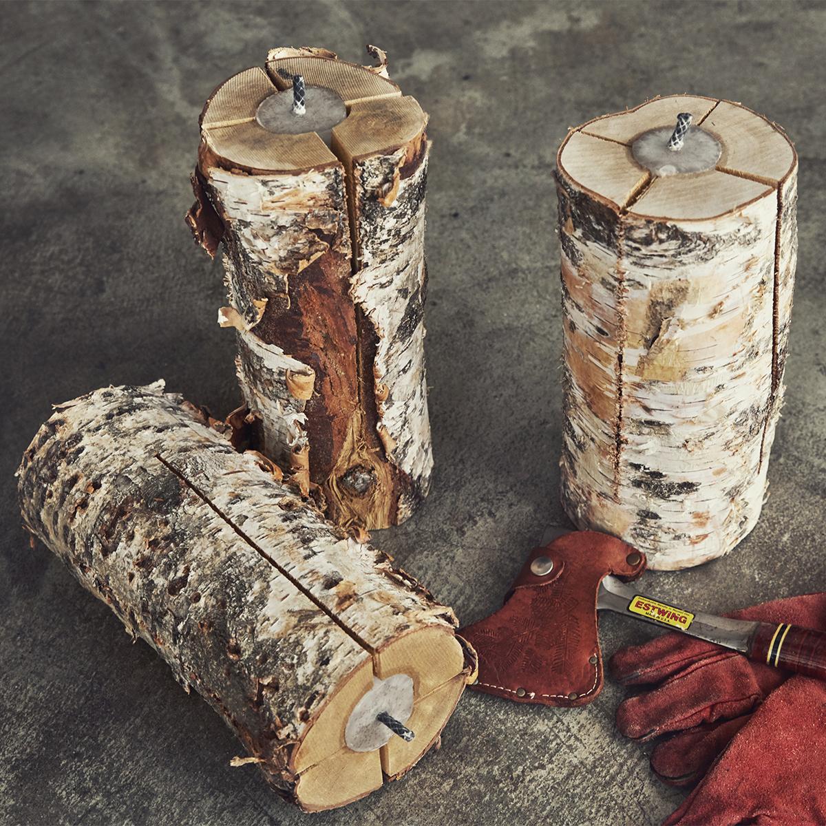 ロウソクに火を点けるような手軽さでできる焚き火。キャンドル一体型で一発着火、肉も焼ける「スウェディッシュトーチ」|Swedish Birch Candle(スウェディッシュ バーチ キャンドル)