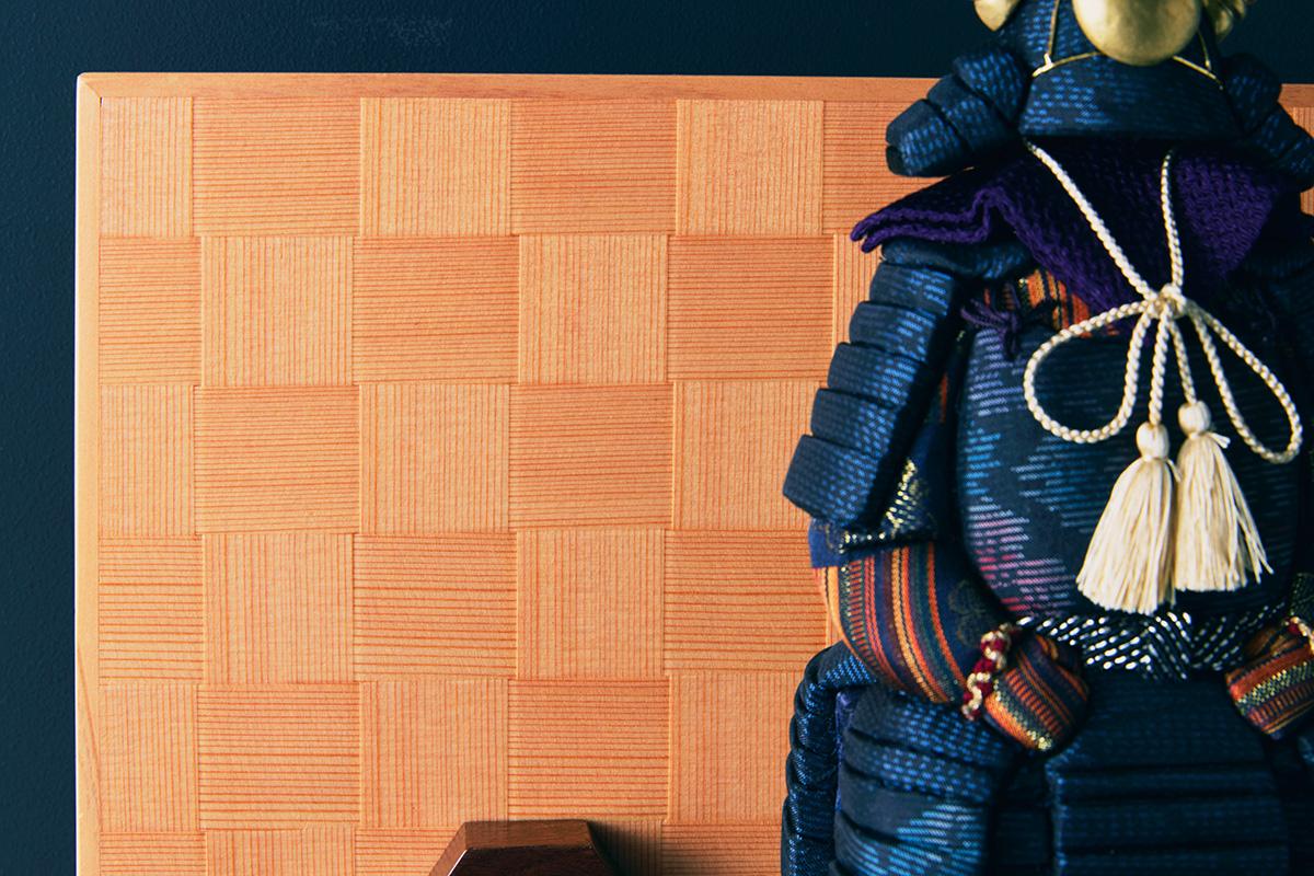 障子の衝立:鹿沼組子細工|次世代に伝えていきたい最高峰の日本伝統技術を結集させ、コンパクト・モダンに。リビングや玄関に飾れる「プレミアム鎧飾り・五月人形」