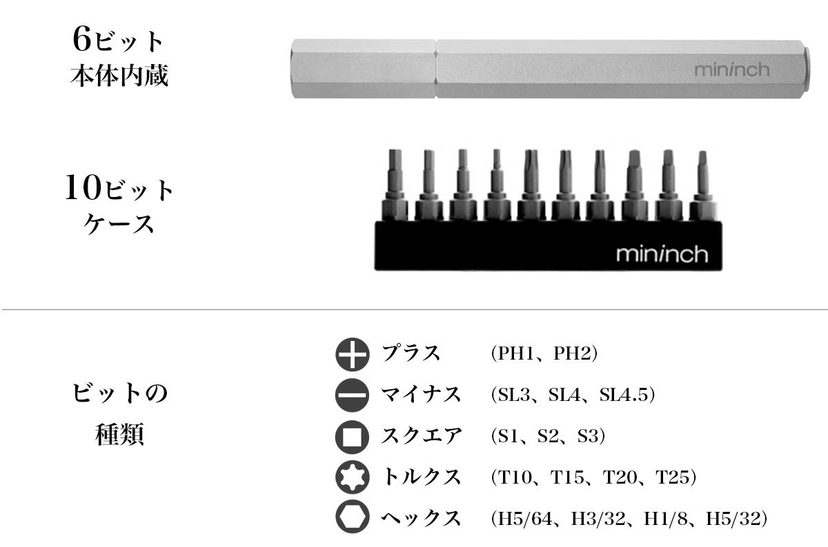 ロケット鉛筆のように先端ビットを交換できる工具「ツールペン」|mininch