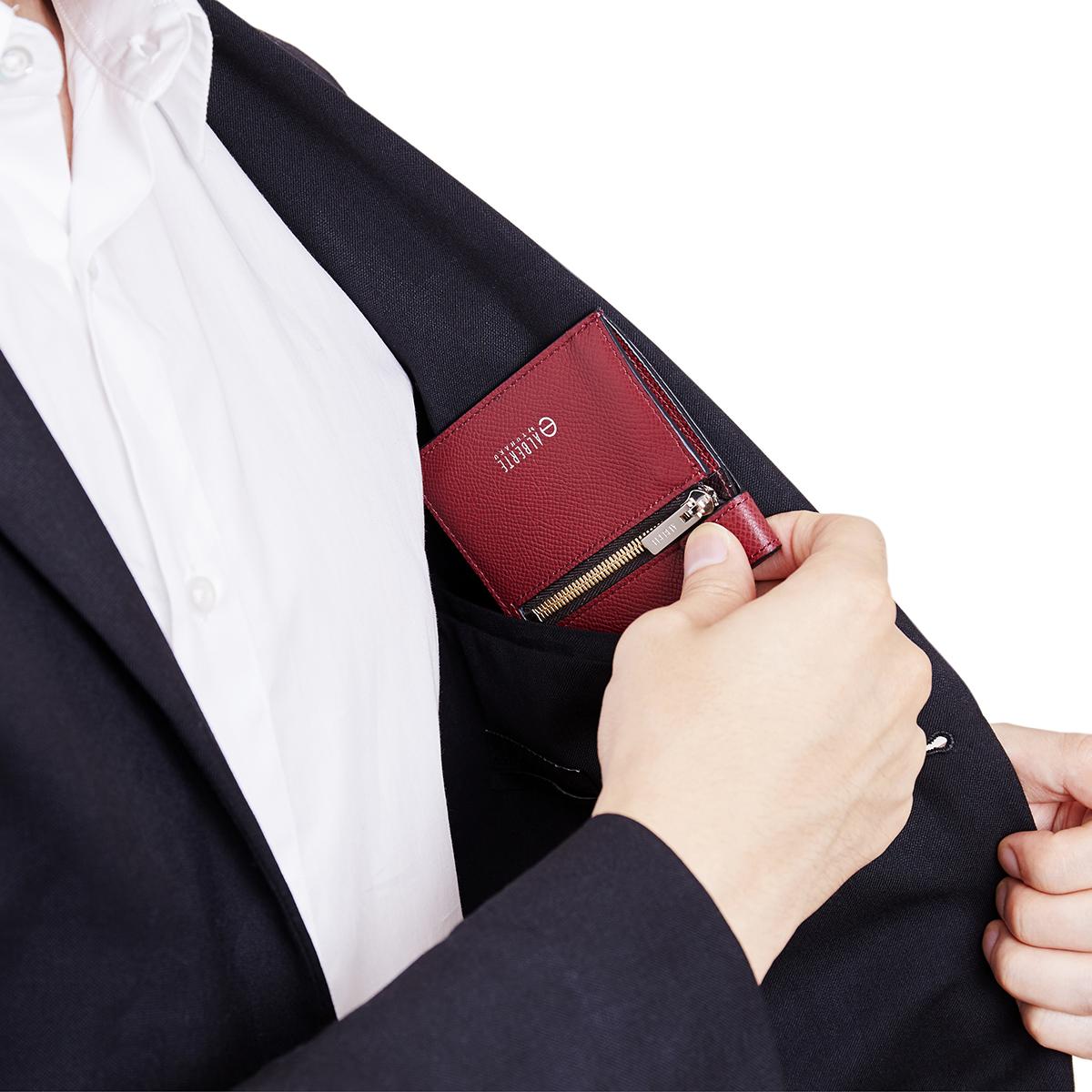 あなたの動きも思考も、スマートにしてくれる美しい薄さの革財布(札入れ)|ALBERTE