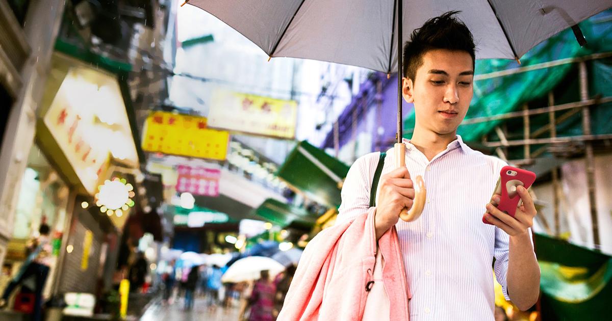 雨の日も片手で操作できるiPhoneケース