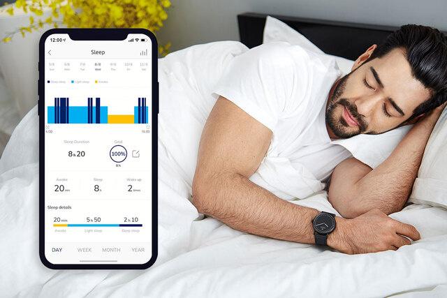専用アプリを通して、24時間、あなたの消費カロリーや熟睡度をチェックし続ける。24時間、あなたの活動量も睡眠も見守ってくれるスマートウォッチ|noerden(ノエルデン)