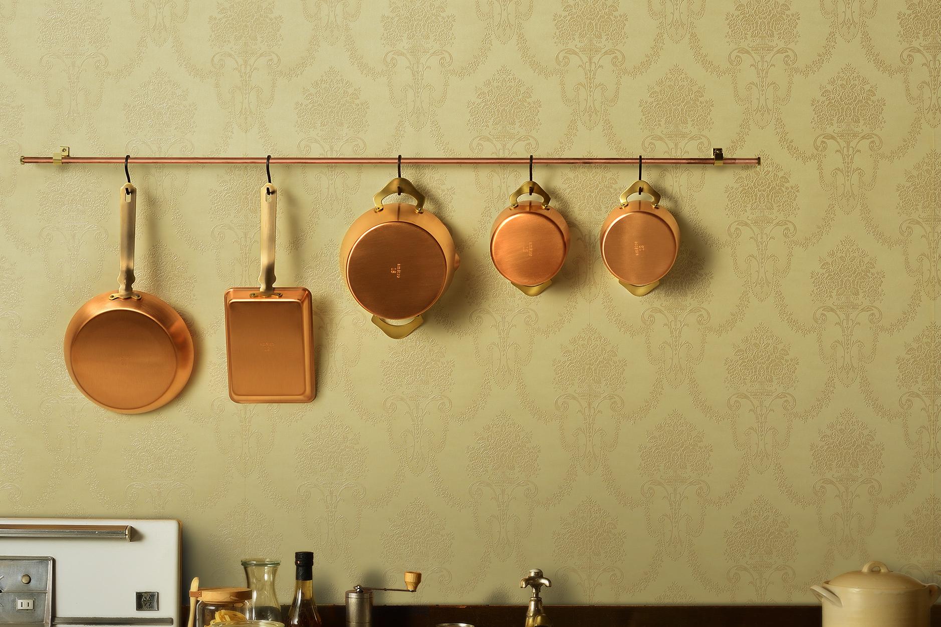 料理が美味しくなる銅製の調理器(フライパン、鍋)