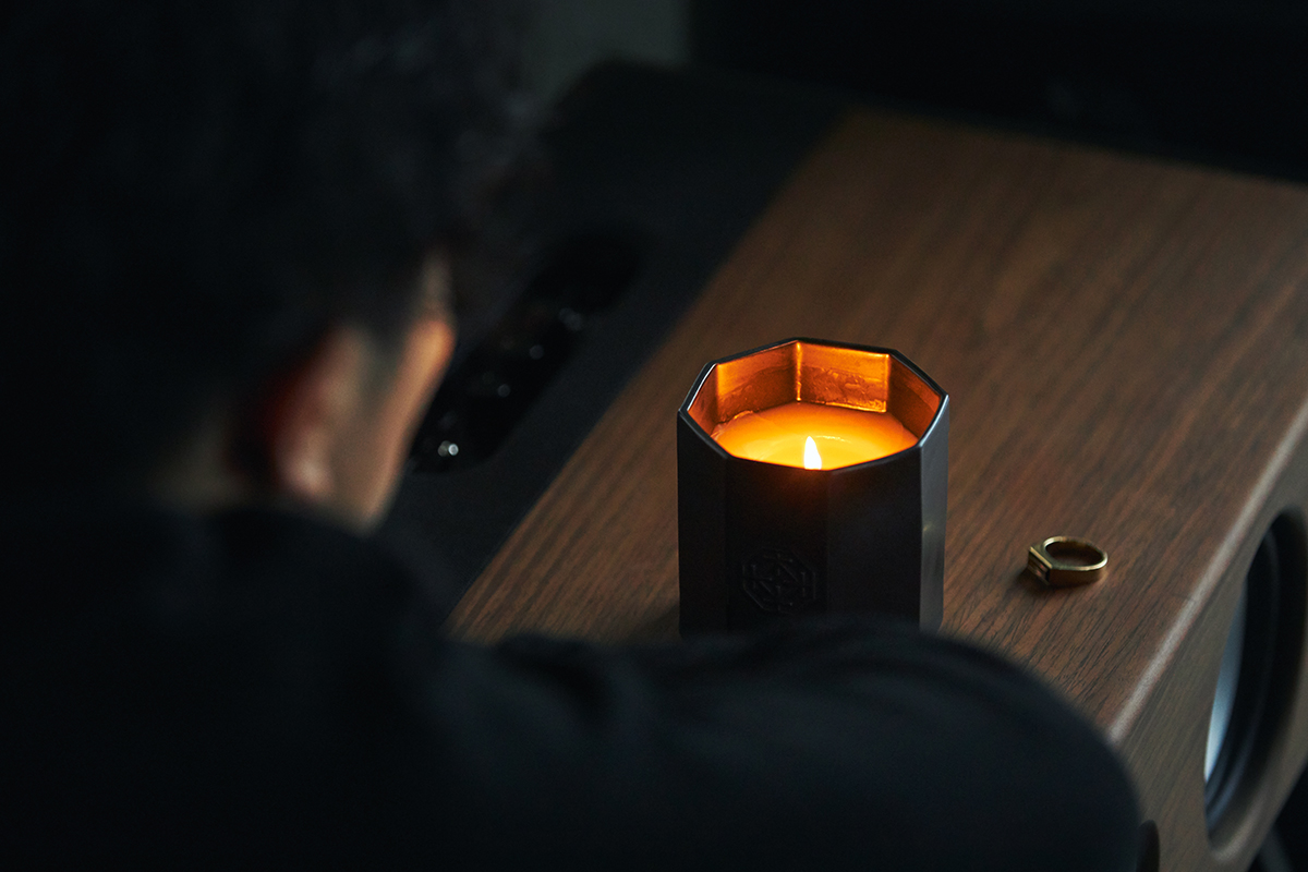 オンとオフの切り替えに。穏やかな炎と心地いいヒノキの香りで、ゆったり癒しの時間を-センティッドキャンドル-KITOWA(キトワ)