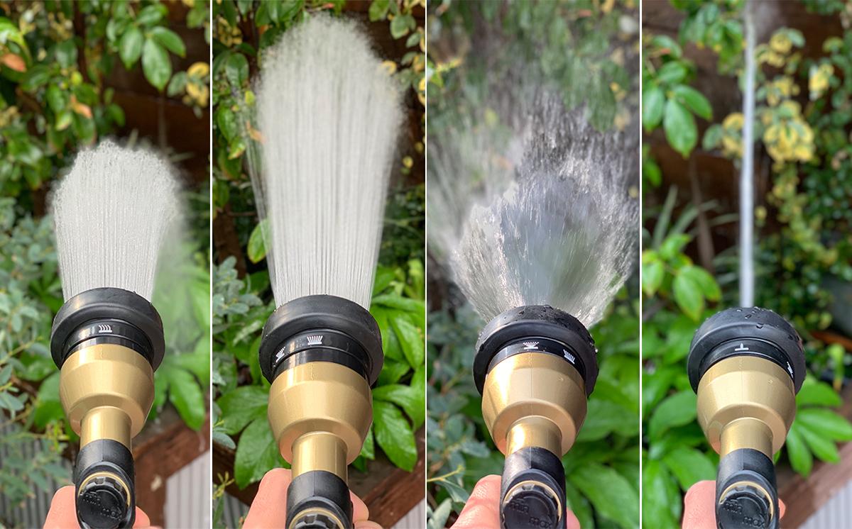 4種のシャワー(ジョロ、シャワー、拡散、ストレート)で、庭の水やりも、ベランダや車の掃除も自在な「ホースリール」|Royal Gardeners Club(ロイヤルガーデナーズクラブ)
