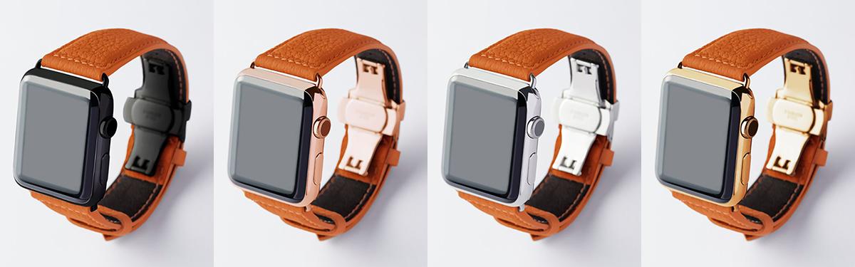 バルセロナオレンジ|複数買いしたい、豊富なラインナップ。アクティブな腕元を洗練する、ワンタッチ着脱の「Apple Watchバンド」|EPONAS(エポナス)