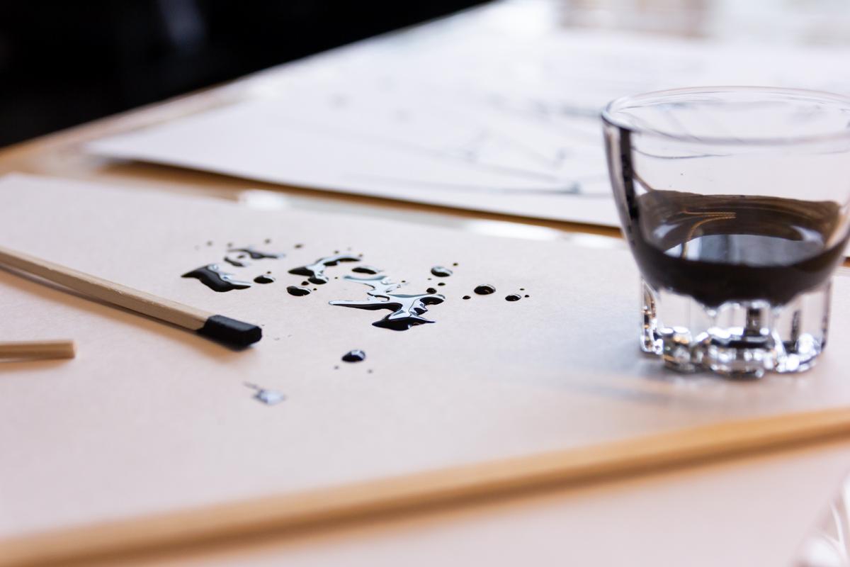 スタイリッシュなアートを作るRina IwaiのRinaの画材|漆の真空二重構造のステンレスボトル(タンブラー)