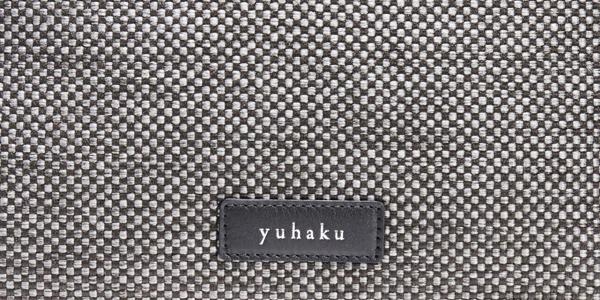 グレー メンズ革ポーチ yuhaku