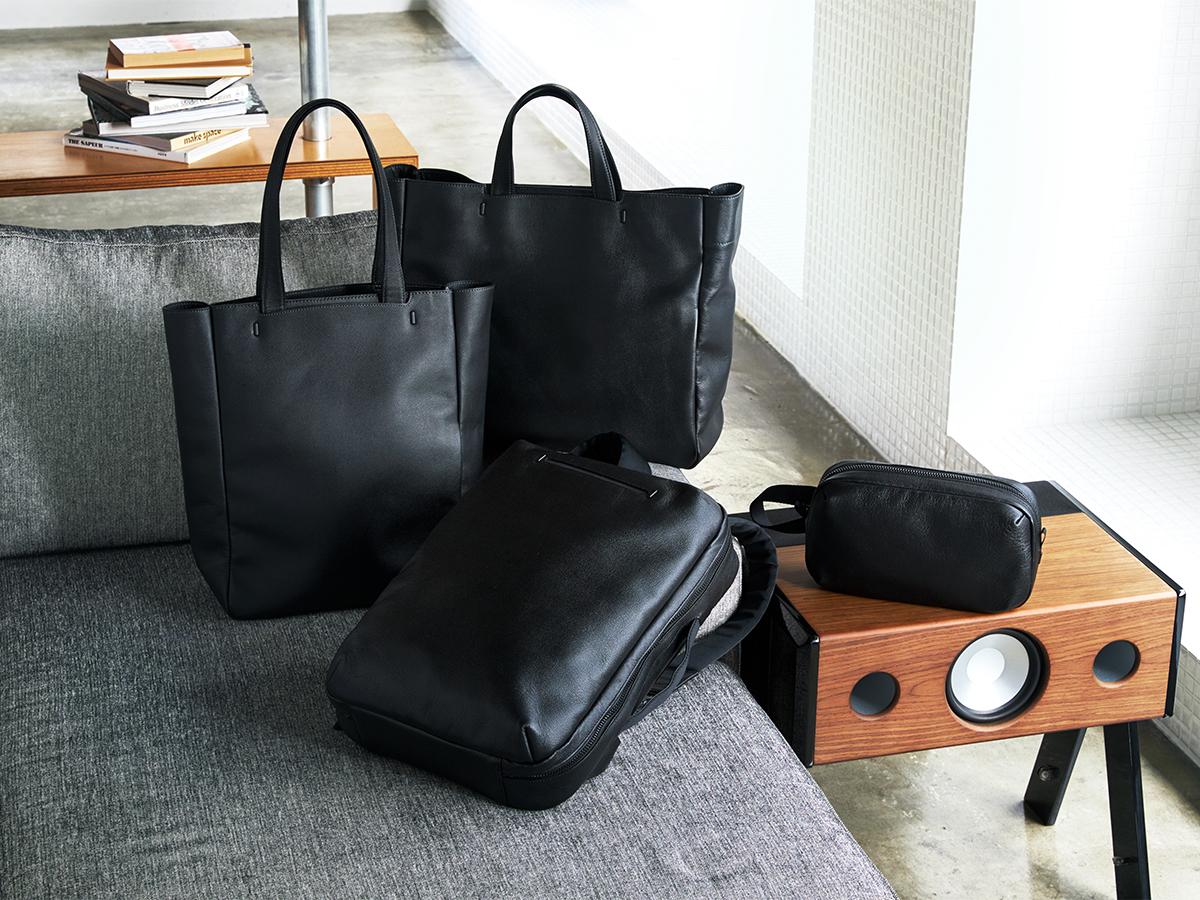 仕事にも遊びにもオンオフ使える|防水レザー、超軽量、直感ポケット付きの日本製レザーバッグ|PCバッグ・トートバッグ・リュック・バックパック|FARO(ファーロ)