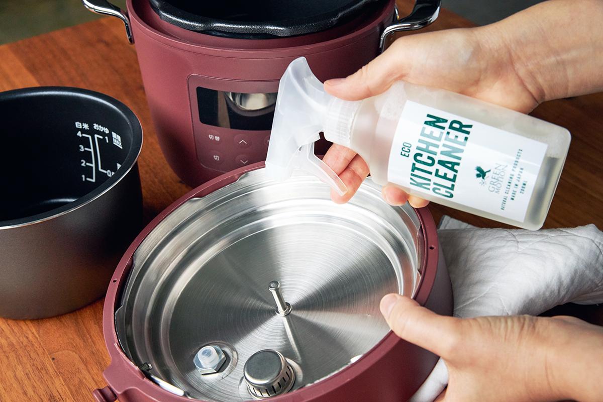丸洗いできるから清潔、衛生的で安心。肉はジューシーに、ジャガイモはホクホクに下ごしらえ!炊飯も調理も楽チンで早い「アシスト調理器・電気圧力鍋」|Re-De Pot(リデ ポット)