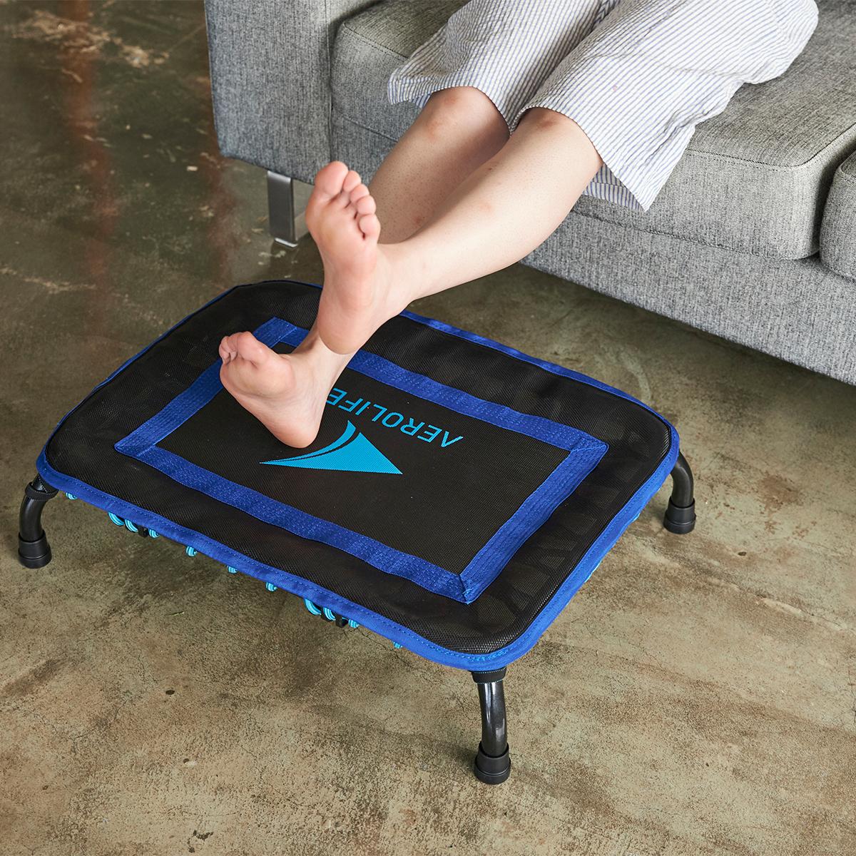 家で、仕事場で、トランポリンを使ったエクササイズで、自然と運動習慣が身につく。ミニサイズのトランポリン「ミニジャンパー」|AEROLIFE(エアロライフ)
