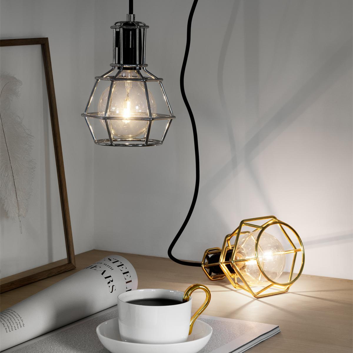 天井から吊り下げたり床に置いても使えるお洒落なランプ|DESIGN STOCKHOLM(Work Lamp)