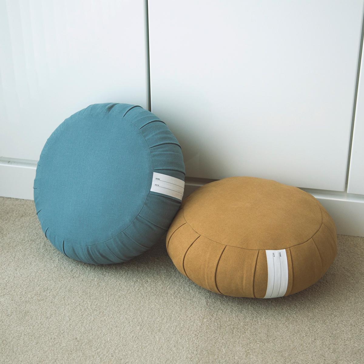 リラックス状態なのに呼吸がしやすい。長時間の坐禅・瞑想も快適に座ることができる。坐禅蒲団(坐蒲)・瞑想用クッション| ZAF(ザフ)