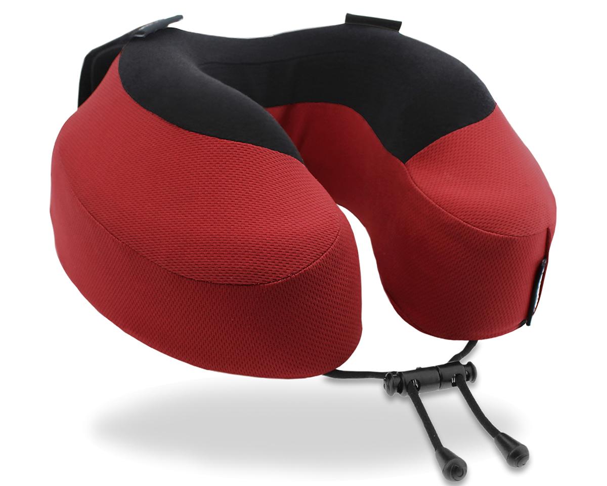 顔が当っても、ふんわり柔らかい肌触り。重たい頭をしっかり支えられる、コシのある素材のトラベル枕|cabeau