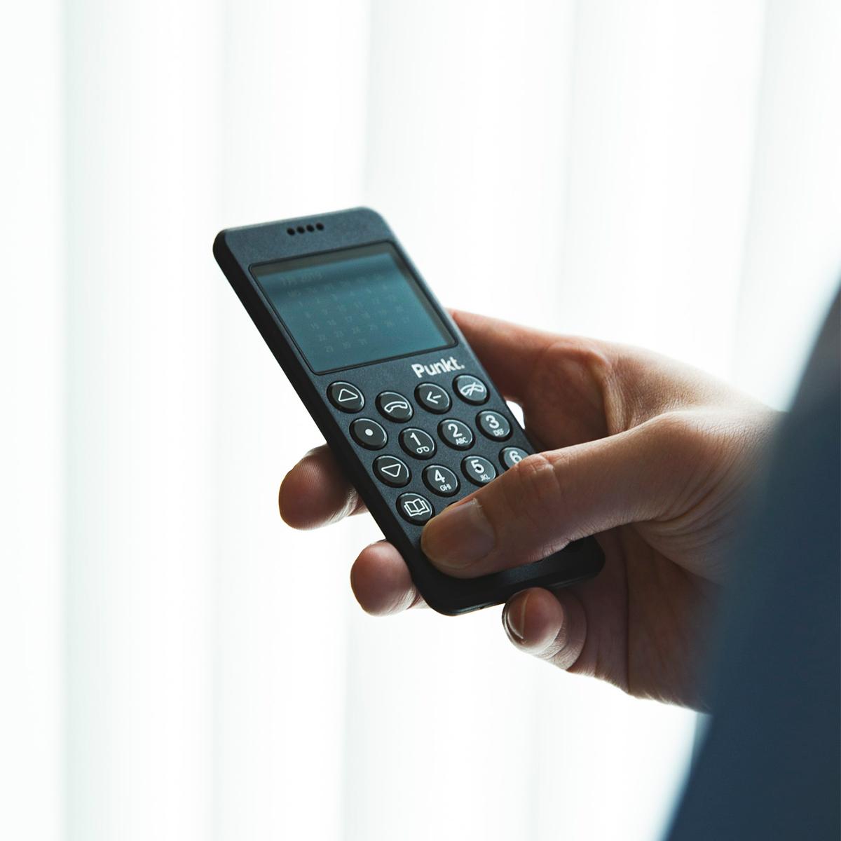 通話とSMS機能をメインにした至極シンプルなデザインの携帯電話・ミニマムフォン|Punkt.(プンクト)