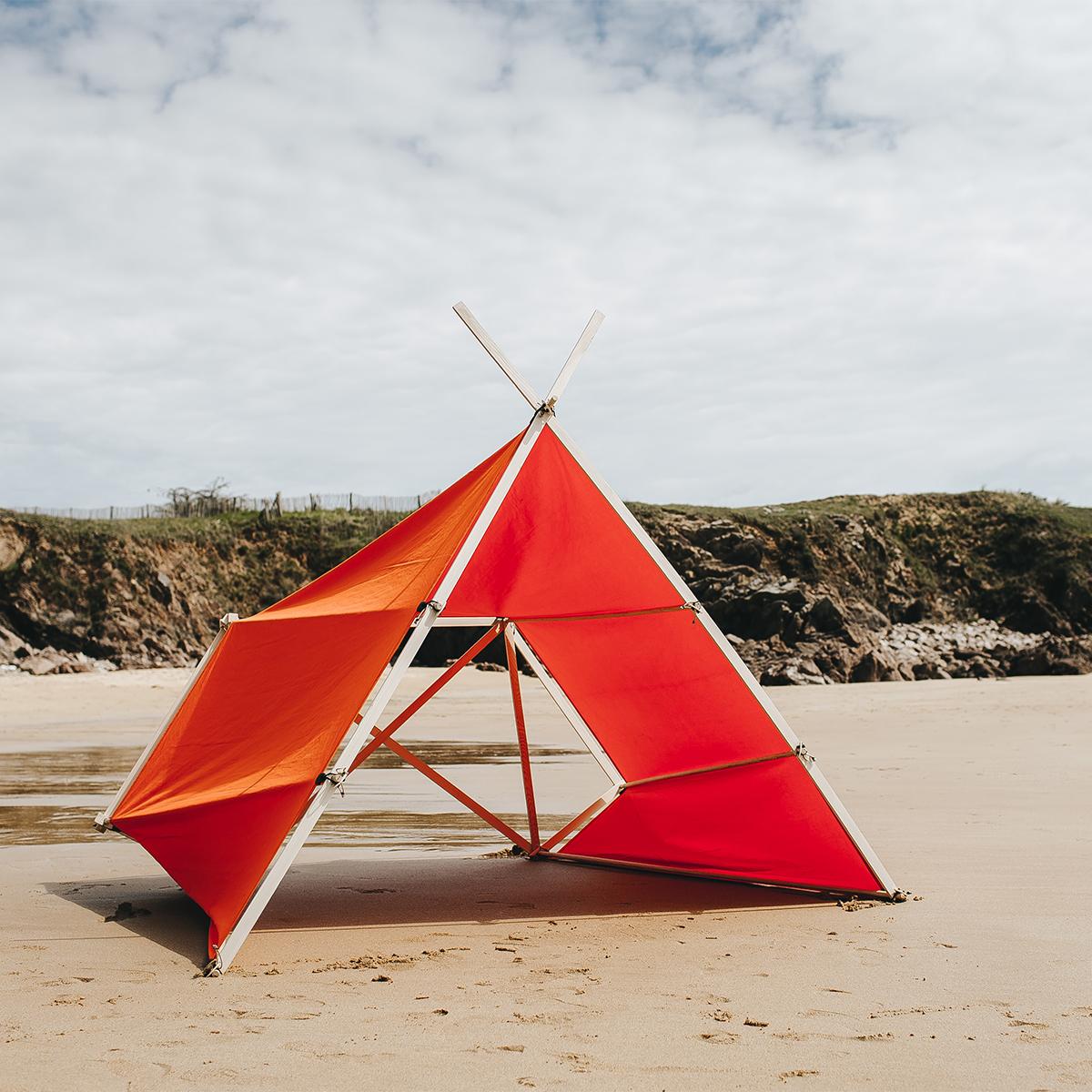 家族4人で、子どもと、友達と、ペットと過ごせる大サイズの「帆布テント」|LA TENTE ISLAISE(ラ・タント・イレーズ)