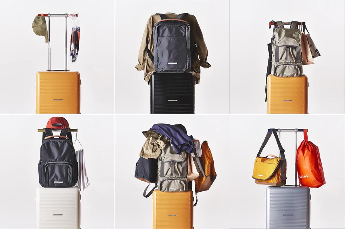 ハンドルが「ハンガーラック」に早変わりするから驚くほど身軽に。荷物を置く場所がなくても安心なスーツケース(88L・7泊〜)|RAWROW