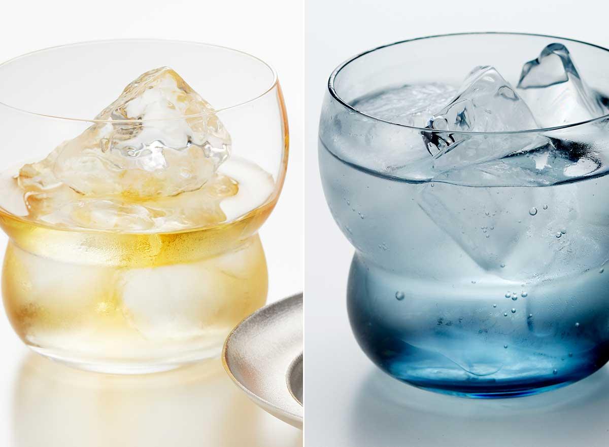飲み物が美味しそうに映え、香りも楽しめる。持ちやすさ、使いやすさ抜群。丸みとくびれのあるお洒落なデザイン|双円(そうえん)のグラス