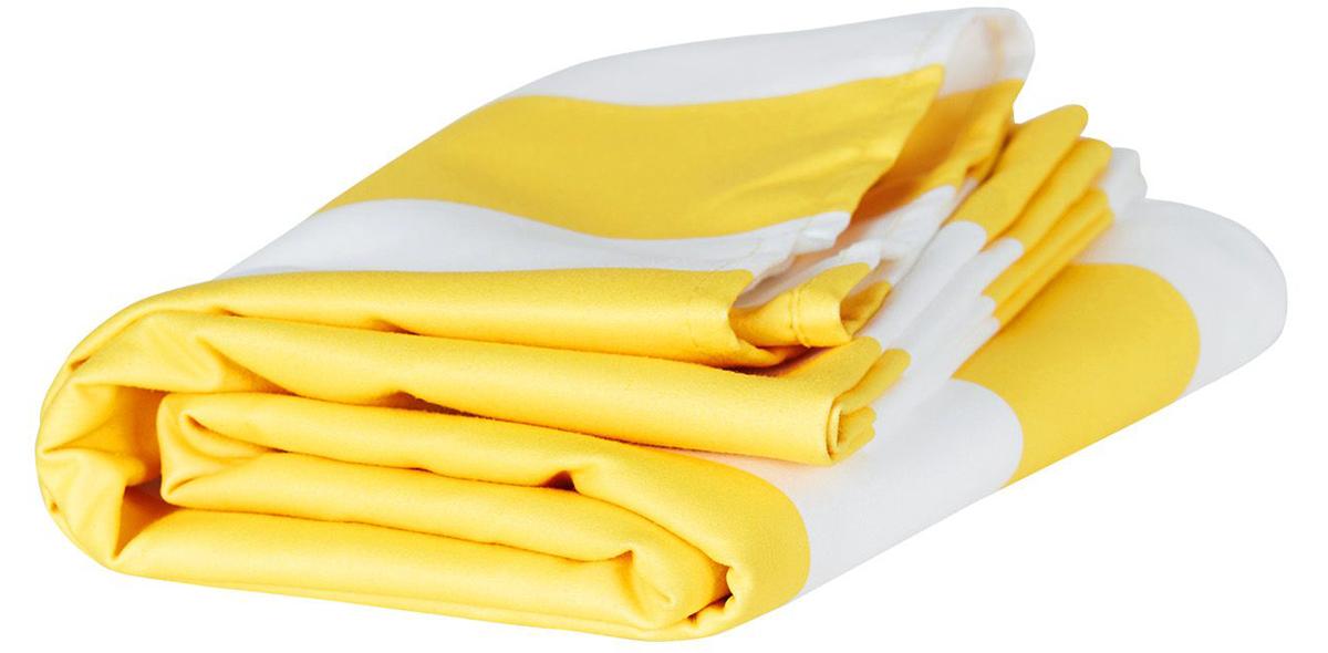 フィリピン・ボラカイ島のイエロー(Boracay Yellow)水をサッと吸収、砂がつかないマイクロファイバー製のカラフルタオル(ビーチタオル)|DOCK & BAY