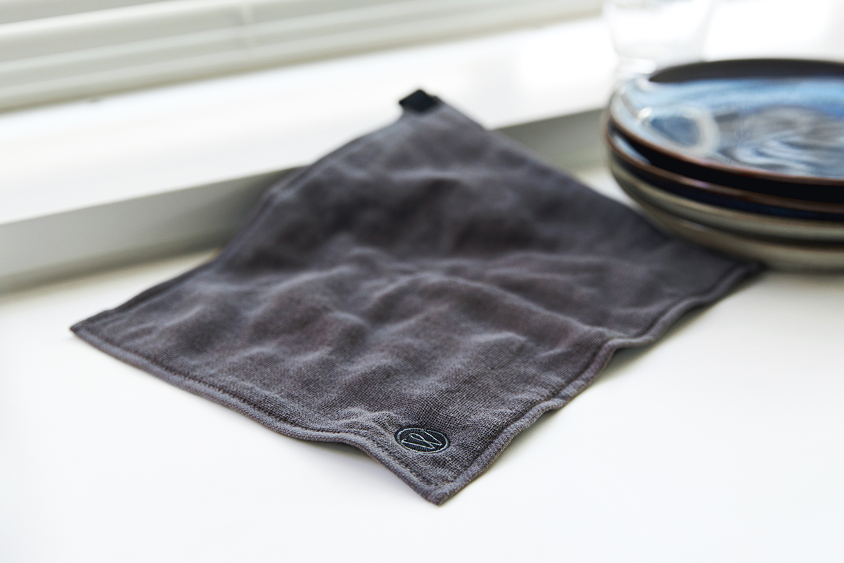 部屋干しでも臭わないキッチンワイプ(台所ふきん)|酸化チタンと銀の作用で、生乾き臭・汗臭の菌を除去する「タオル」|WARP
