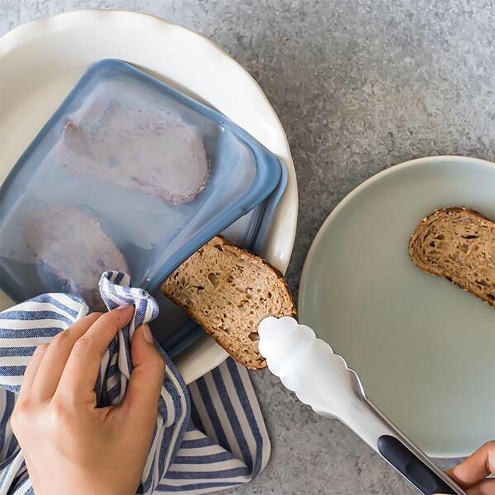 焼く:トースト|密閉保存から調理まで、これひとつで完結!たっぷり容量で自立もするマルチバッグ|stasher(スタッシャー)