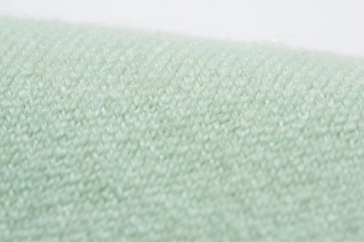 日本で初めてカシミヤの紡糸をした東洋紡糸が手掛けた生地(パステルグリーン)。上質なカシミアニット|SANYO(三陽商会)