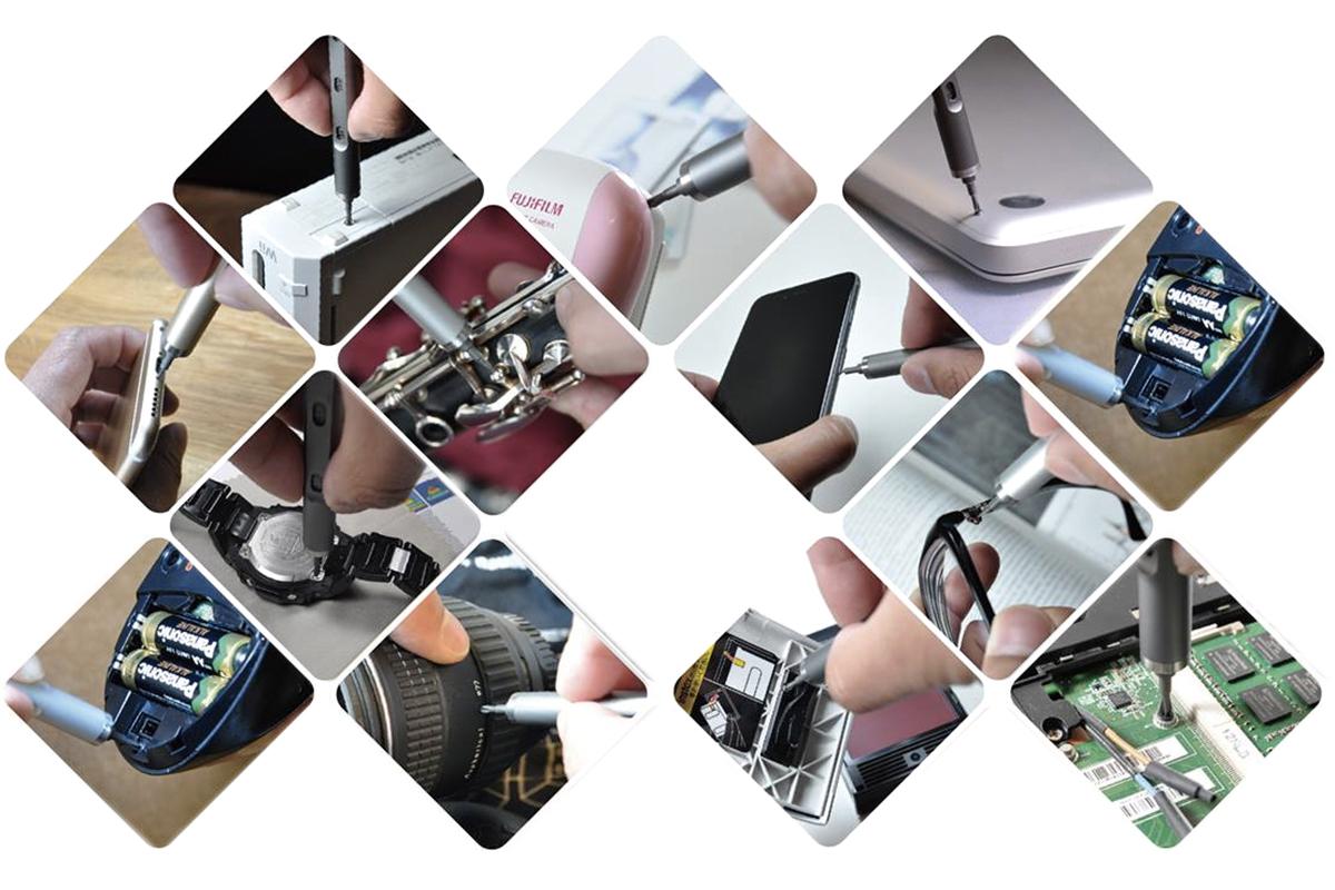 精密機械を分解・修理する時に活躍するスタイリッシュな工具