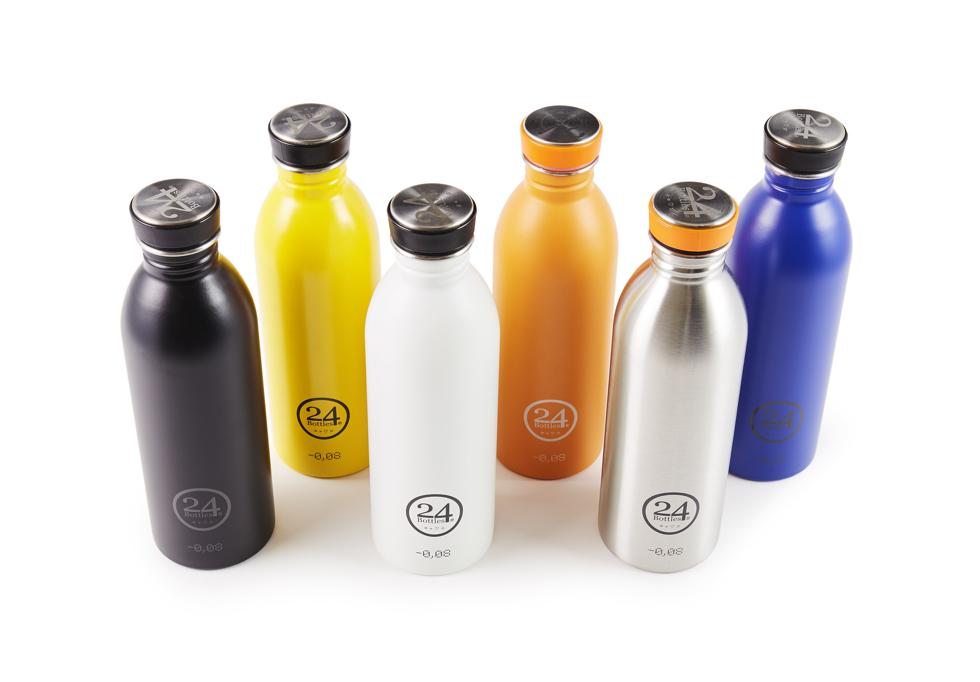 超軽量でスタイリッシュでお洒落なステンレスボトル | URBAN BOTTLE(カラーバリエーション:黒、黄、白、オレンジ、シルバー、青)