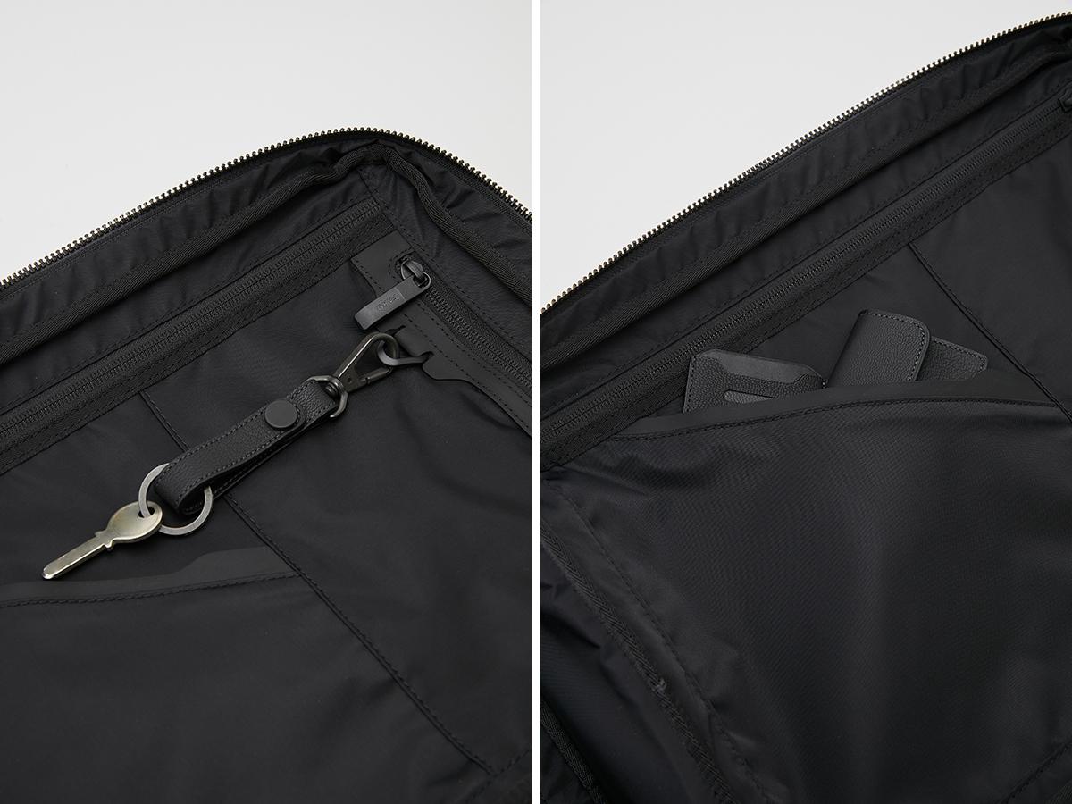 整理整頓しやすい仕切り・ポケット構造 防水レザー、超軽量、直感ポケット付きの日本製レザーバッグ PCバッグ・トートバッグ・リュック・バックパック FARO(ファーロ)