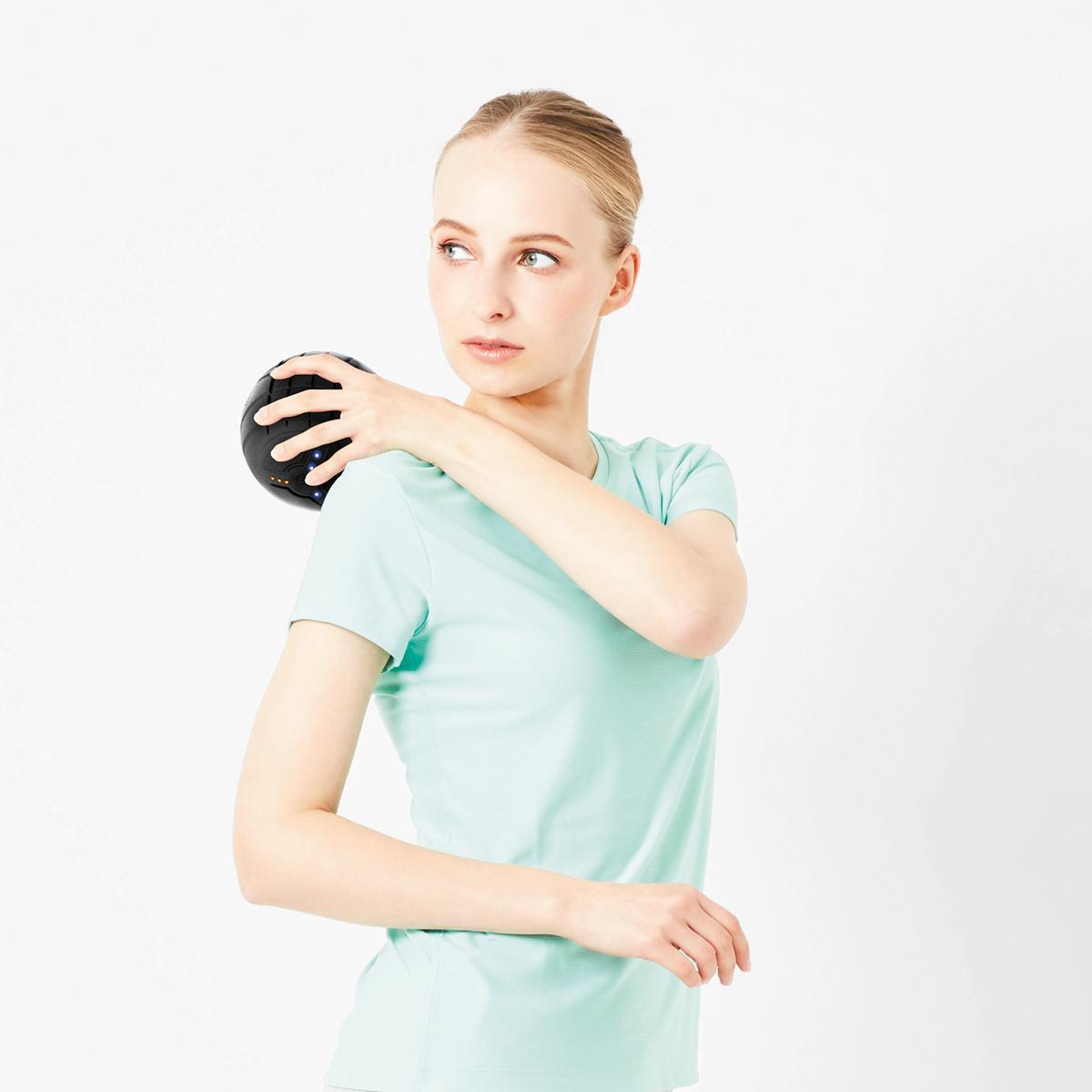 筋肉を、深く狭く、揺さぶって、滞りがちな血行も刺激するストレッチボール|Dr.Air 3Dコンディショニングボール