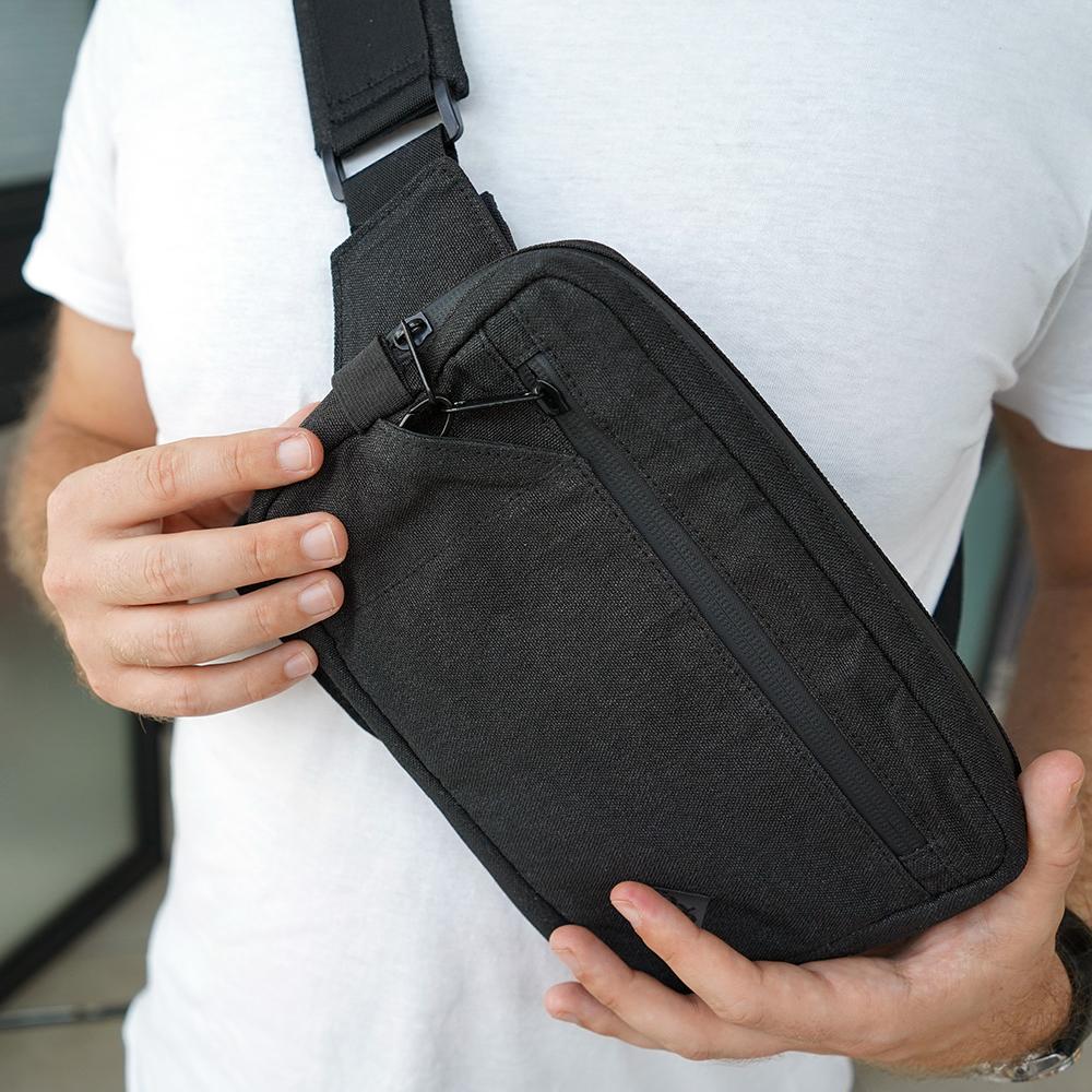 財布が要らないほど、収納性、機能性、セキュリティー性抜群の財布(ボディーバッグ型財布)|Code10