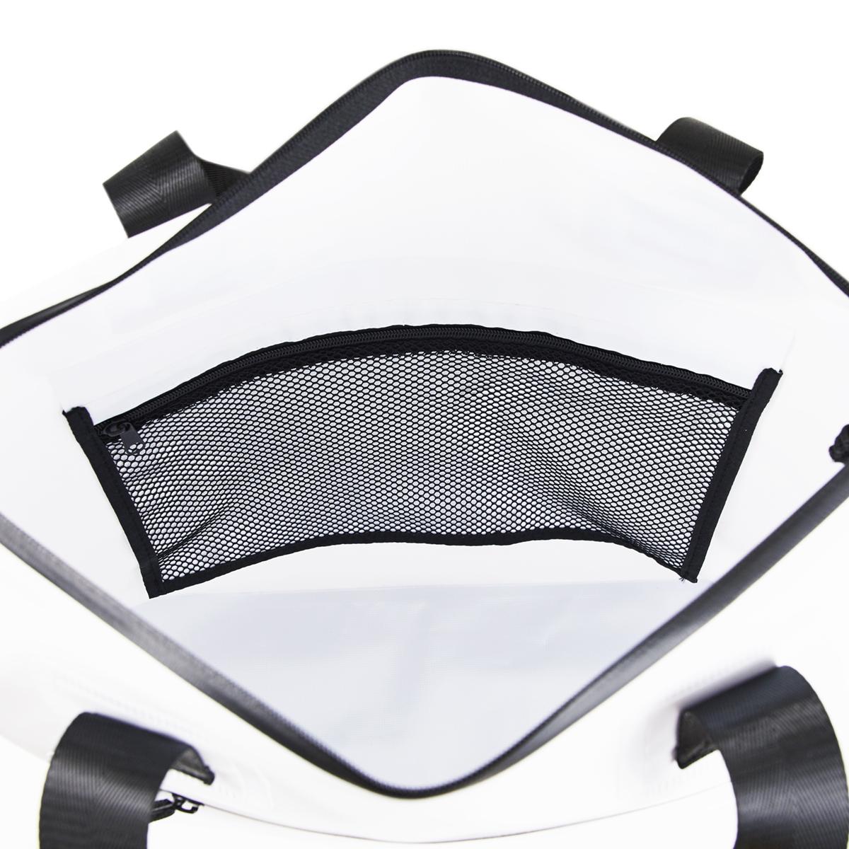 防水性のスタイリッシュなデザインのトートバッグ ポケット