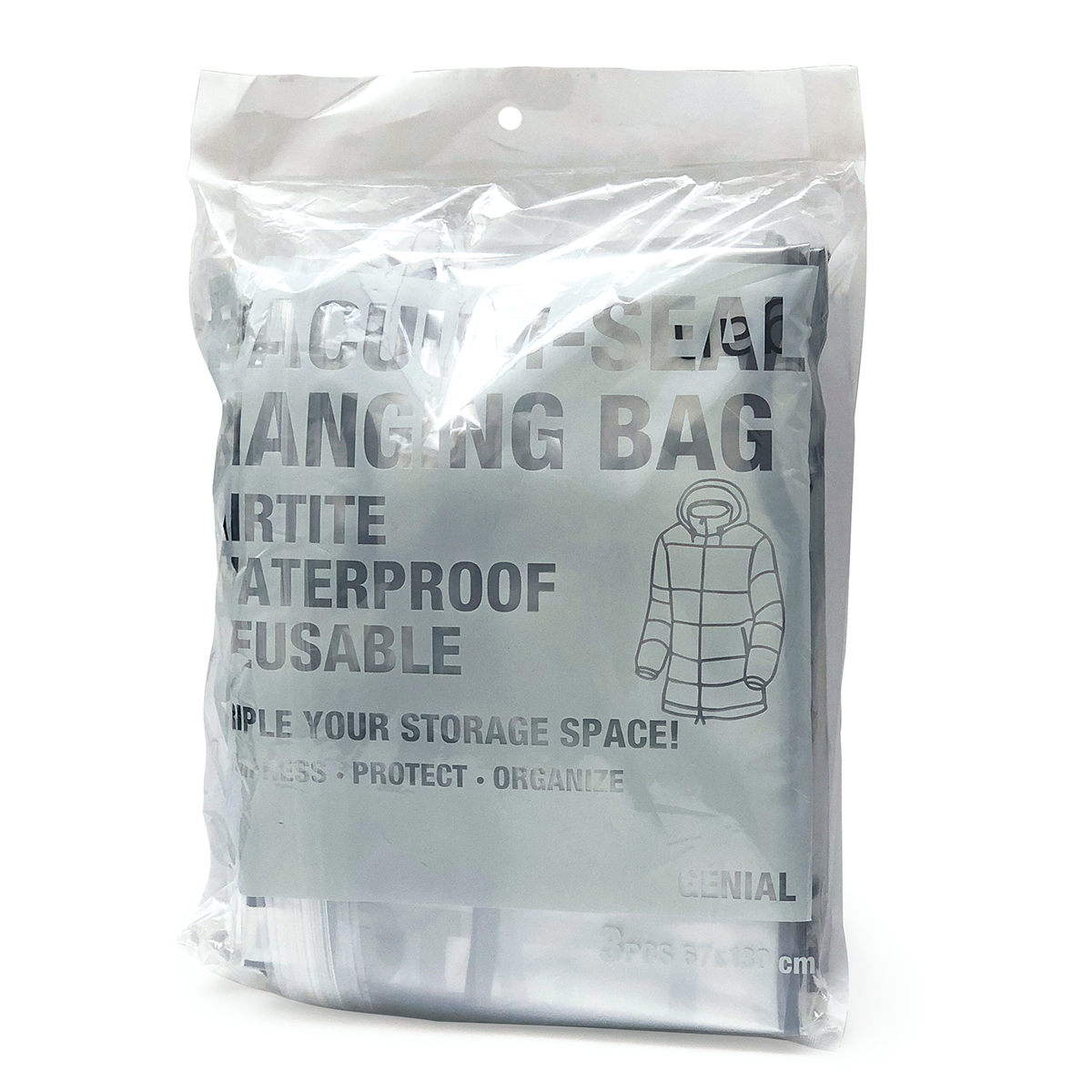 スライド十派ー|ハンガーごと収納OK、シワ・型崩れ知らずの衣類圧縮バッグ|vacuum seal hanging bag