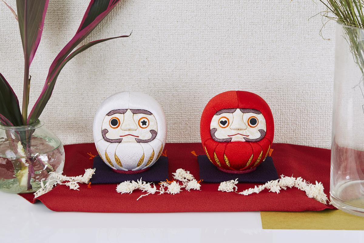 伝統の木目込み技術を使ったモダンデザインの開運・風水 招福だるま|柿沼人形