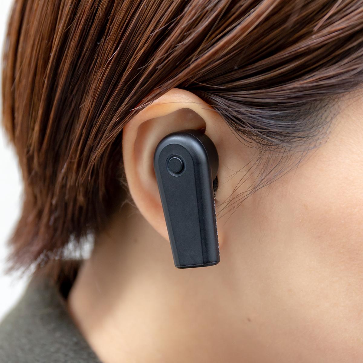 着けっぱなしでも心地いいイヤホン。新発想!耳から落ちない、音が途切れない、20時間再生OKのワイヤレスイヤホン|FUNOHM