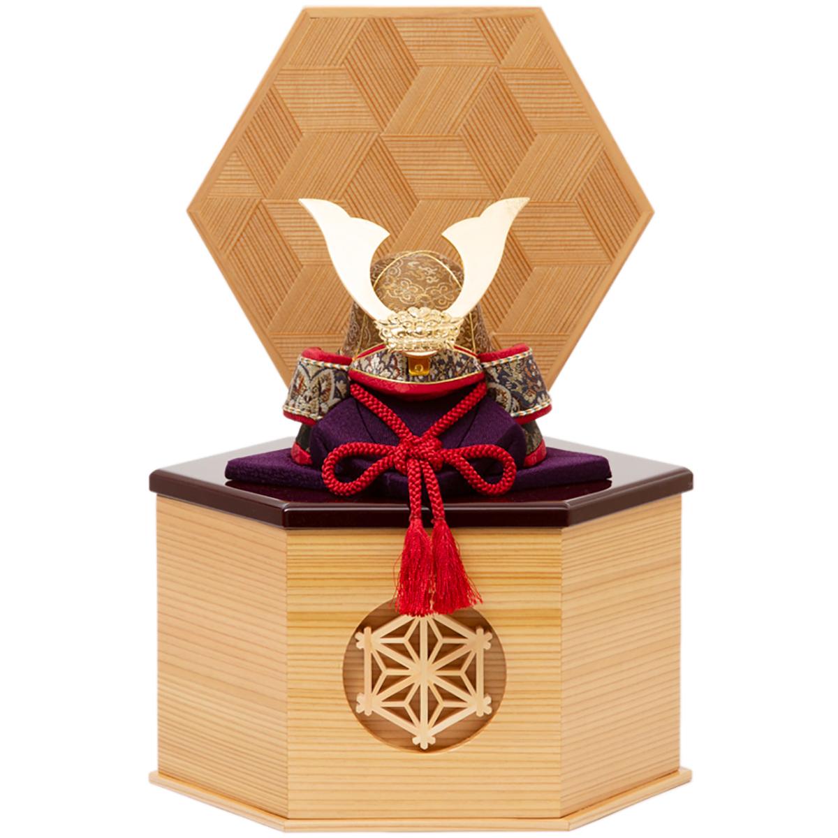 「シンプル・コンパクトを極めたい」なら、《六角形・小》6つの日本伝統工芸をコンパクトにした、木目込の「プレミアム兜飾り」| 宝輝 | 柿沼人形