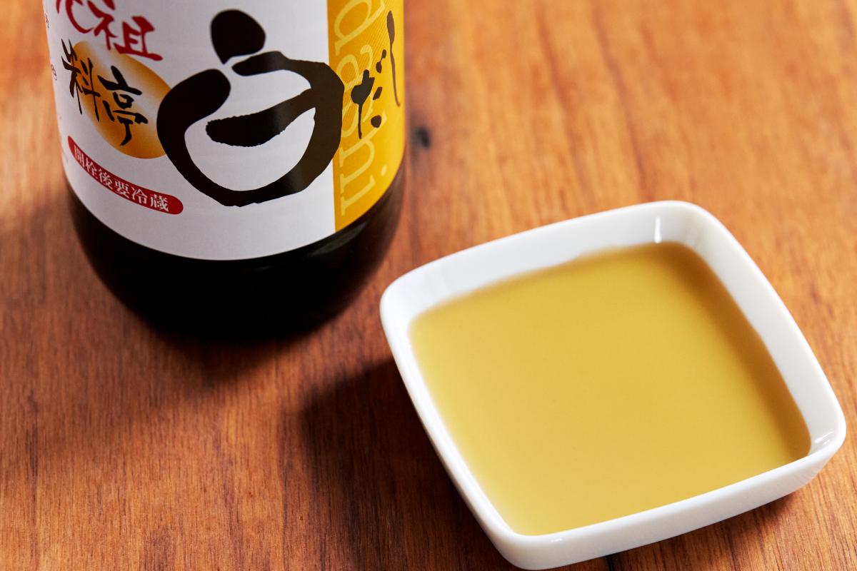高級料亭をはじめ、プロの料理人に重宝されている料理の手間が、驚くほどシンプルになる。野菜も、肉・魚も、今までより深い味わいへ。|日本で唯一の有機白醤油と枕崎産本枯節を使った「白だしの元祖」万能調味料|七福醸造の元祖料亭白だし