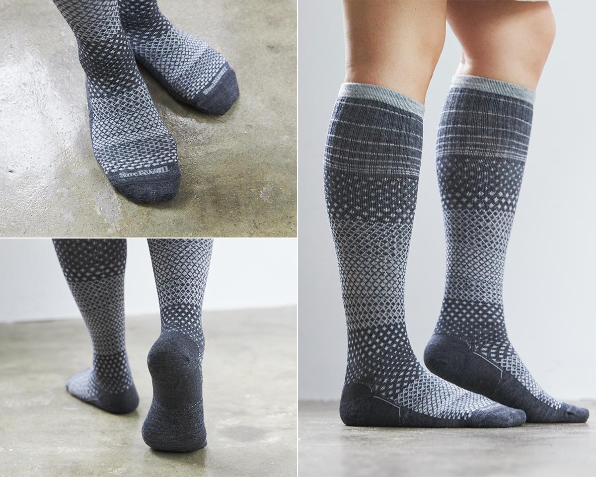 夏は涼しく冬は暖かいメリノウールを使用した、血液やリンパの流れをサポートする着圧ソックス(健康ソックス・靴下)|Sockwell(ソックウェル)