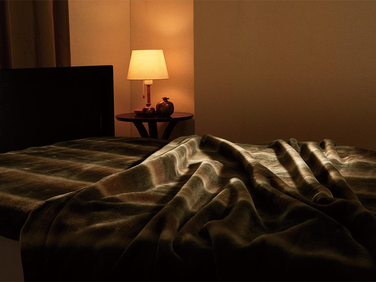 洗練されたイタリアンデザイン。リアルファー並みの風合いを活かしたまま、オーロラのような美しいグラデーションの「掛け毛布・敷き毛布」|CALDONIDO NOTTE(カルドニード ノッテ)