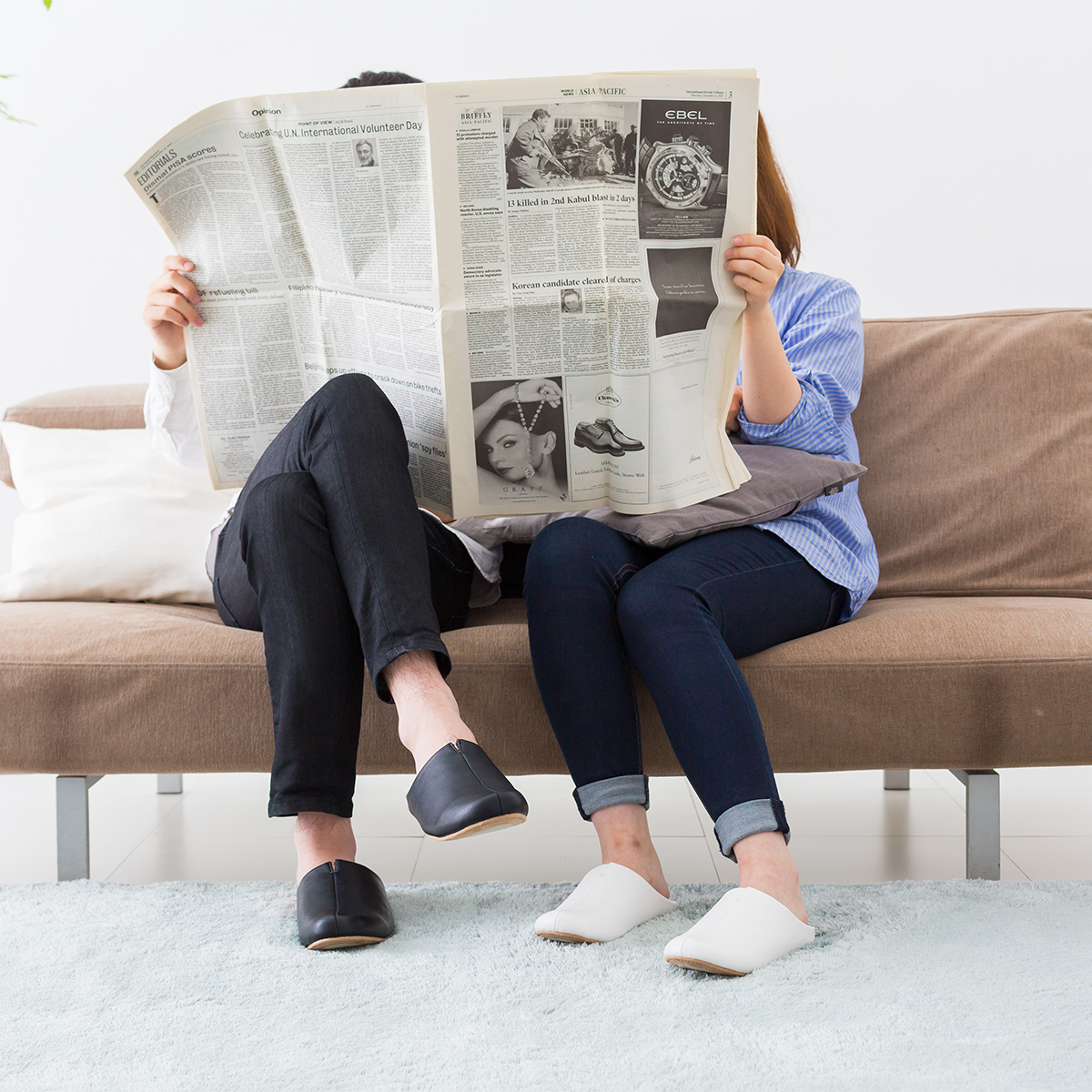 美しいデザインも魅力の靴の製法でつくったからトコトン歩きやすい「スリッパ」|room's