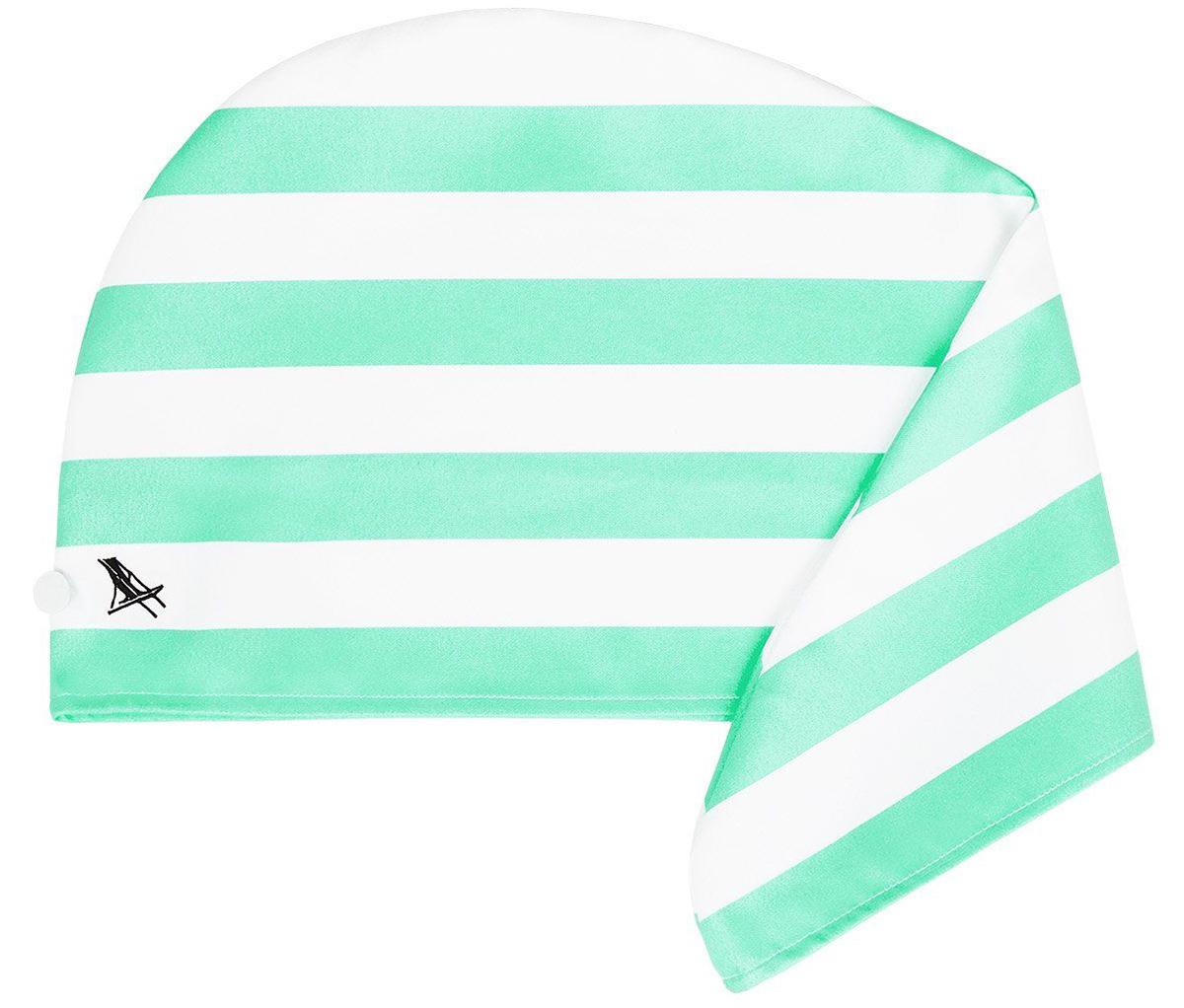 シドニー・ナラビーンビーチの緑(Narrabeen Green)|水をサッと吸収、髪が素早く乾くマイクロファイバー製のカラフルタオル(ヘアラップ)|DOCK & BAY