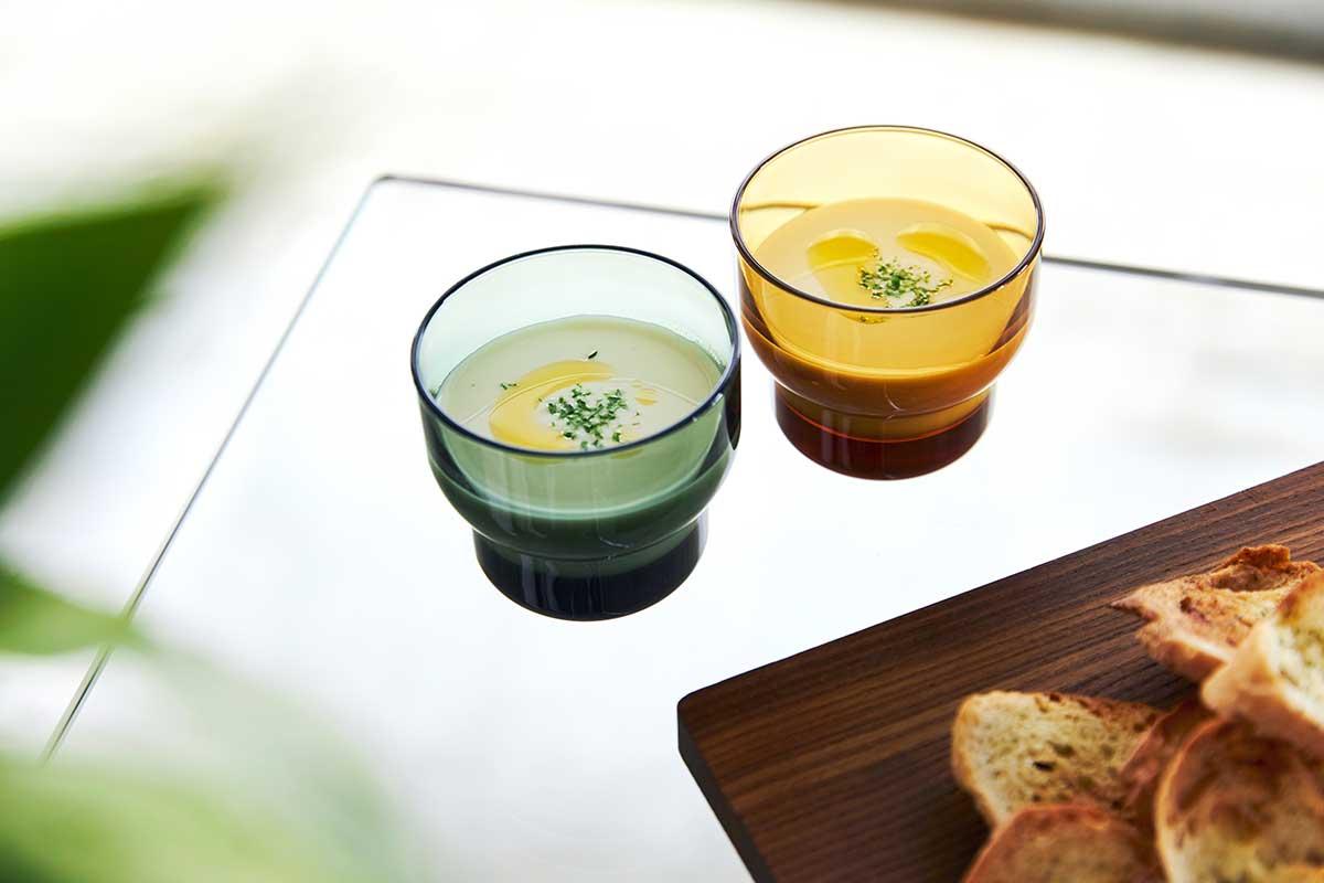 耐熱温度100℃、料理やデザートにも。ずっと割れない保証付き、落としても割れない「樹脂製グラス」|双円(そうえん)