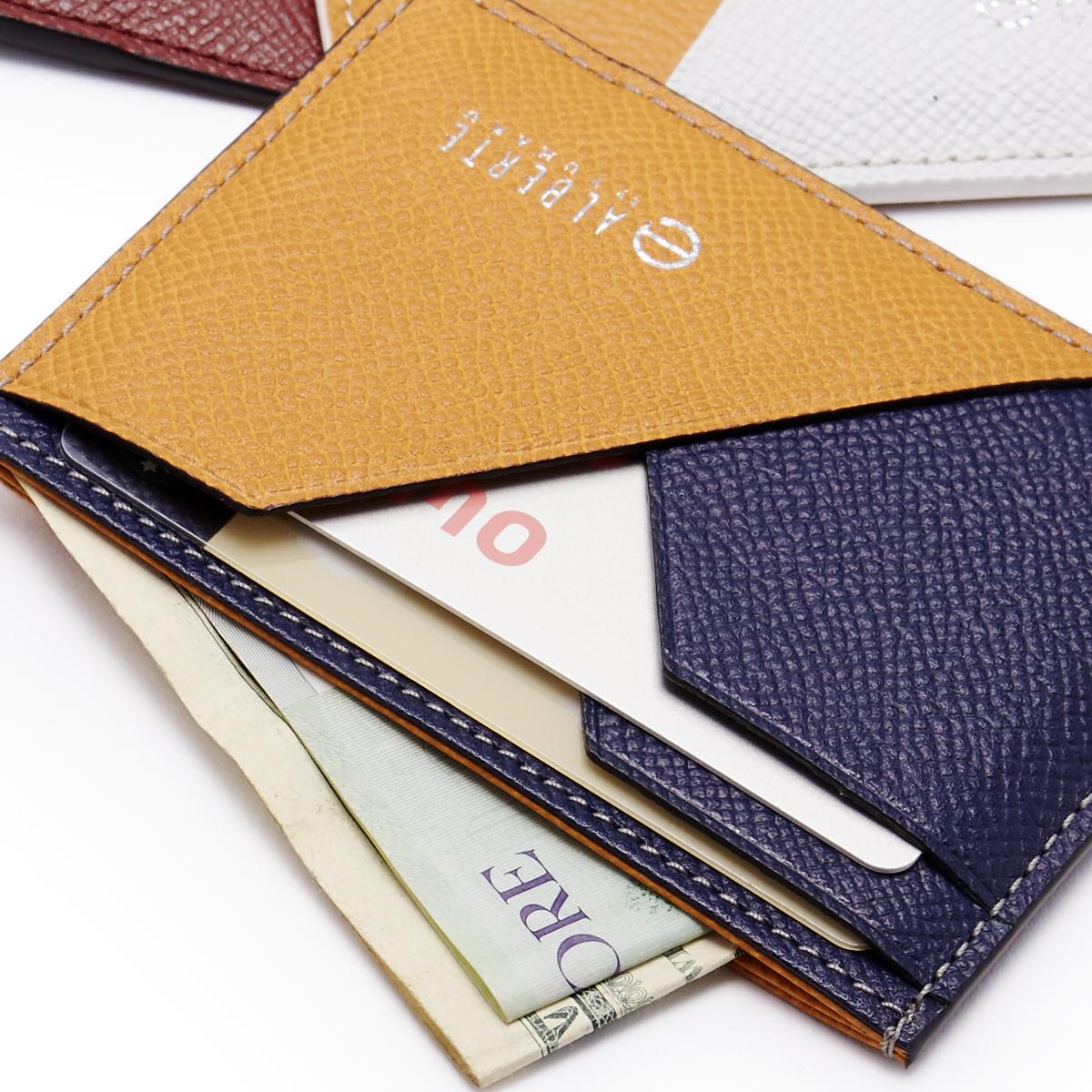 薄さと収納性を両立した、支払いも収納もスマートな革財布(パスケース)|ALBERTE
