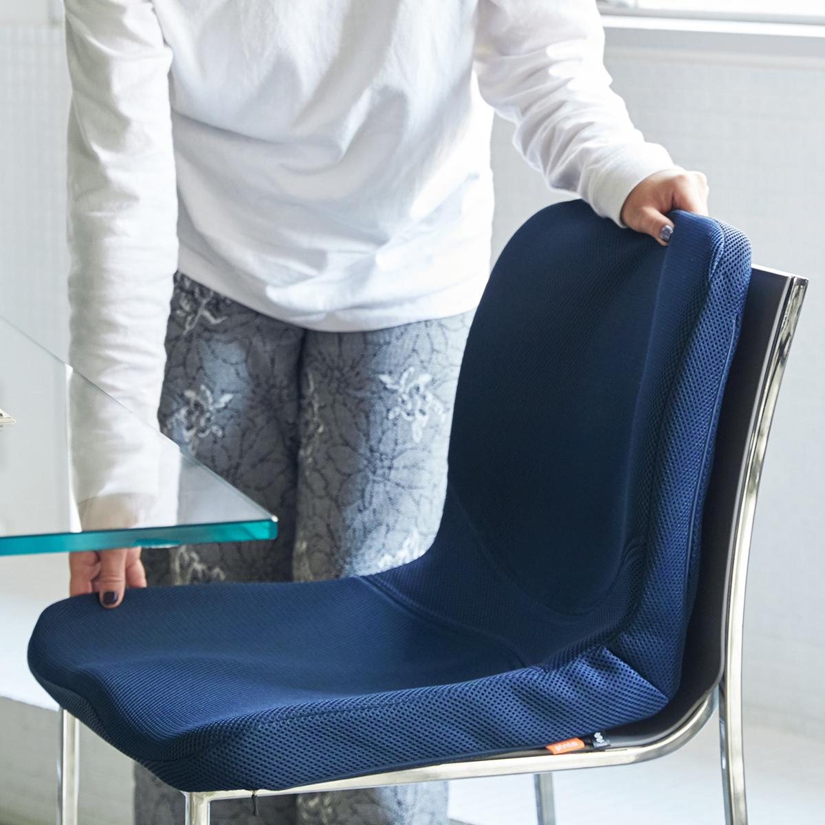 家のダイニングチェア、ソファ、座椅子、イスが変わる!驚くほど腰がラクなのに、正しい姿勢が習慣化する「チェアシート(椅子クッション)」|P!nto