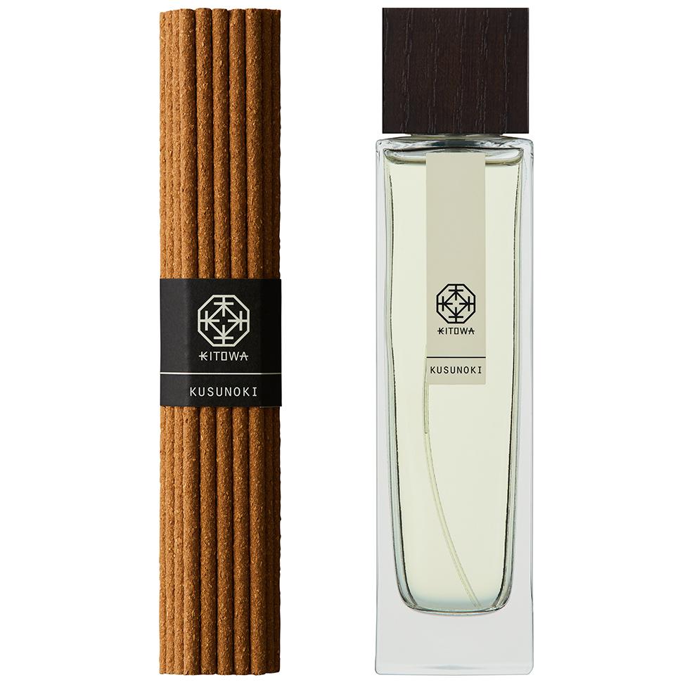 KUSUNOKI(屋久島産のクスノキ)|あなたの部屋がエグゼクティブスイートになる。伝統の薫香技術が生む「香り」で、空間の模様換えが叶うインセンススティック(お香)とリフレッシャーミスト(ルームフレグランス)|KITOWA