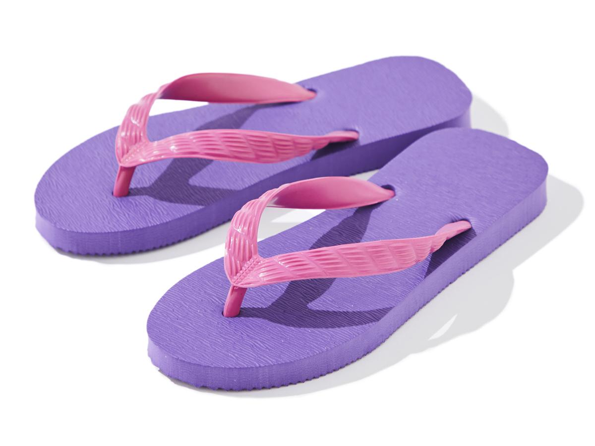 SANTA MONICA(ピンクから紫に染まる夕焼け空が美しい)がテーマのビーチサンダル