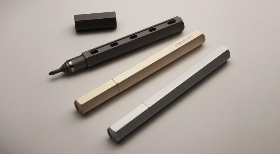 ロケット鉛筆のように先端ビットを交換できる工具:家電や家具向けの「ツールペン」|mininch